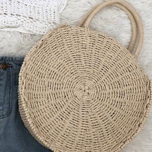 Handbags - Beige straw cross body bag